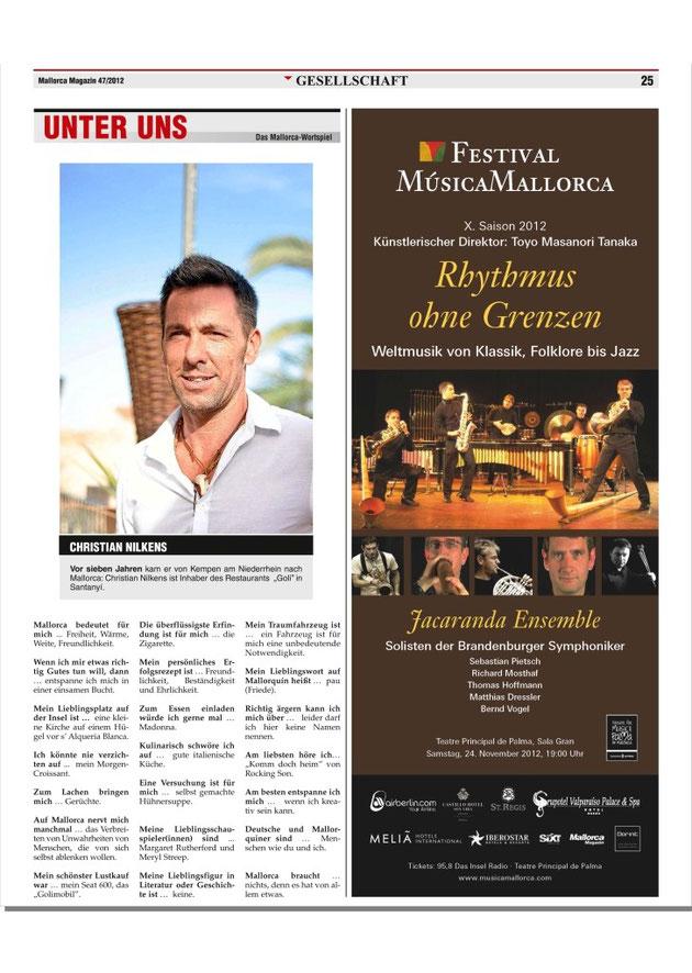 Mallorca Magazin 22.11.2012