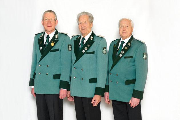 Der amtierende Kompanievorstand (v.l.n.r): Josef Stockhofe, Kurt Schlüter, Herbert Reinhold