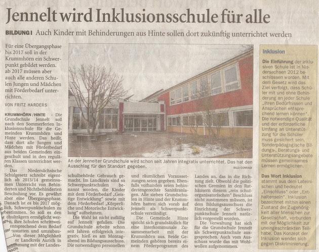 Ostfriesenzeitung 13.02.2013