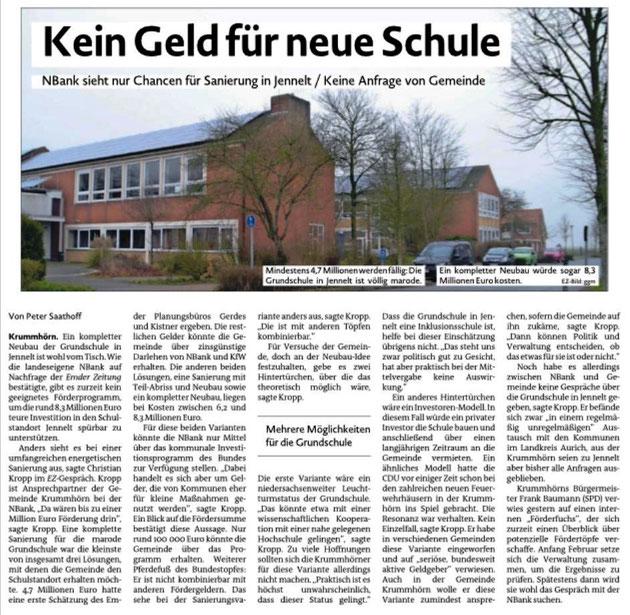 Emder Zeitung 22.01.2010