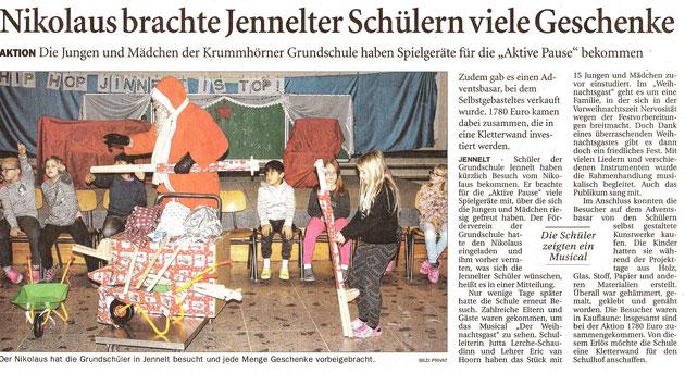Ostfriesenzeitung am 15.12.2017