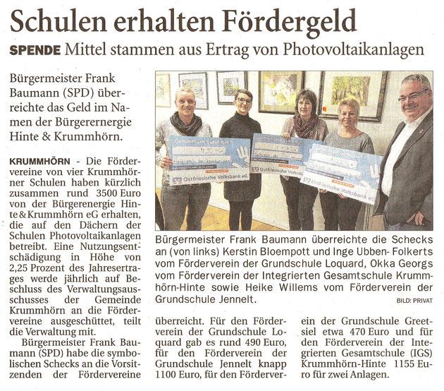 Ostfriesenzeitung 13.12.2018
