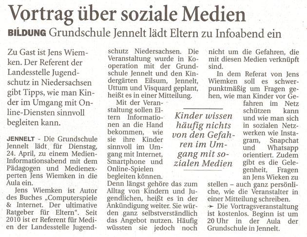 Ostfriesenzeitung 17.4.2018
