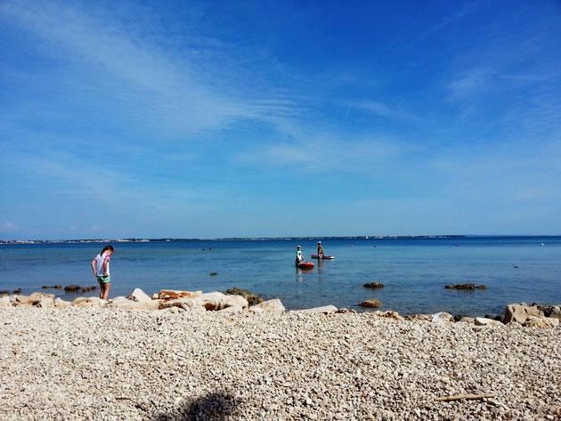 SUP mit der Familie in Kroatien, Insel Vir