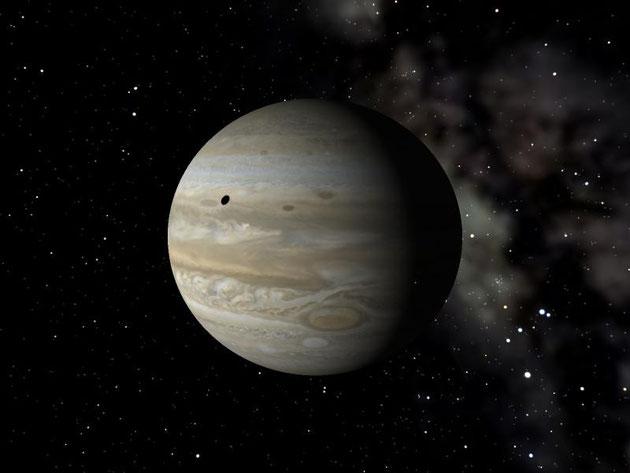 MITAKAの画像の例 木星ですよ〜 木星に落ちる衛星の影が黒い小さな丸です。
