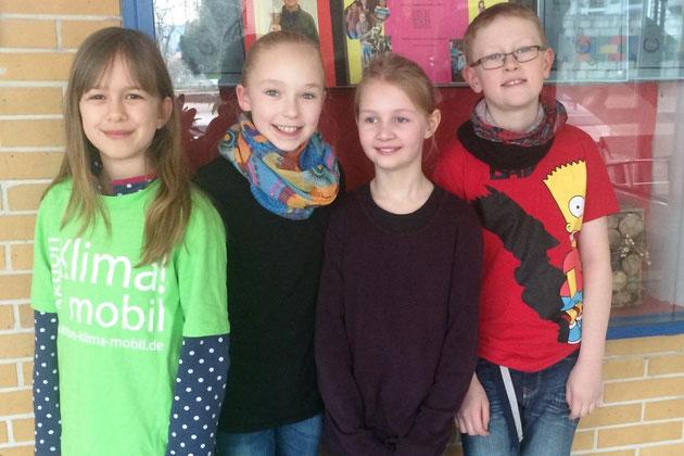 Die Klima AG haben besucht:  Marit 9 Jahre, Antonia 9 J., Lilli 10 J. und Justin 10 Jahre