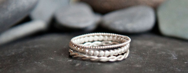 Emma Hedley Textured Stacking Rings