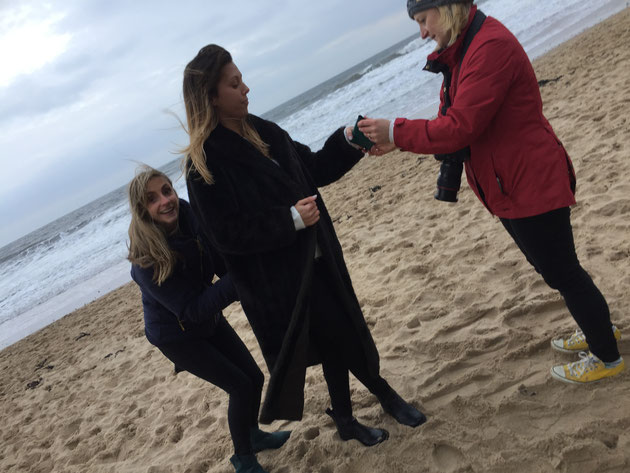 Emma Hedley Jewellery Photo Shoot on Tynemouth Beach with Claire Collinson Photography
