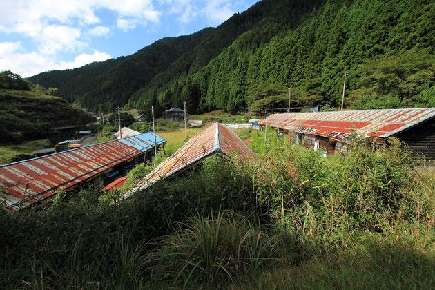 鉱員社宅「北星社宅跡」。現在は2棟が改修されて見学できる。
