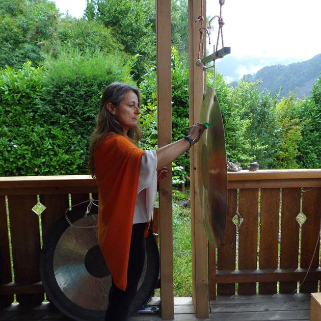 utiliser un gong