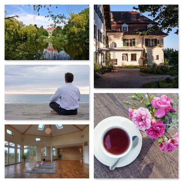 Auszeiten und Urlaube in schönen Bio-Hotels mit wunderschönen Seminarräumen und tollem Essen und Trinken - Entspannung und Achtsamkeit pur