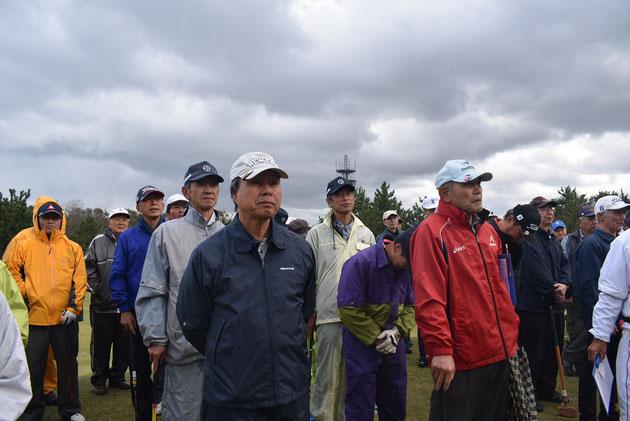 開会式に臨む羽咋市選手団12名の皆さん