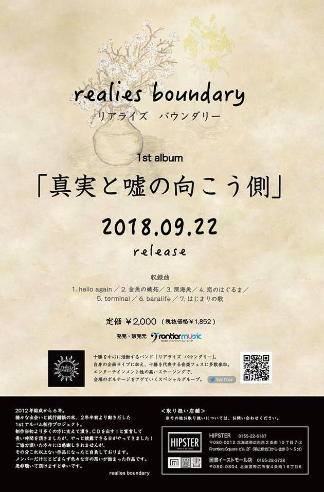 realies boundary/リアライズバウンダリー_真実と嘘の向こう側_CD