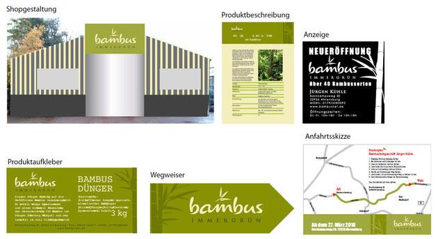 BAMBUS - Immergrün - Corporate Design - neues harmonisches Erscehinungsbild - Leitsystem - Entwicklung - Kommunikation -  DesignKis - 2009