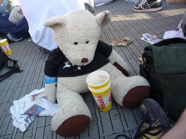 """Der """"Born to rock"""" Teddy hat 2011 wohl zu tief in den Becher geschaut!"""