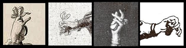 Verschiedene Castagnetten-Anbindungen