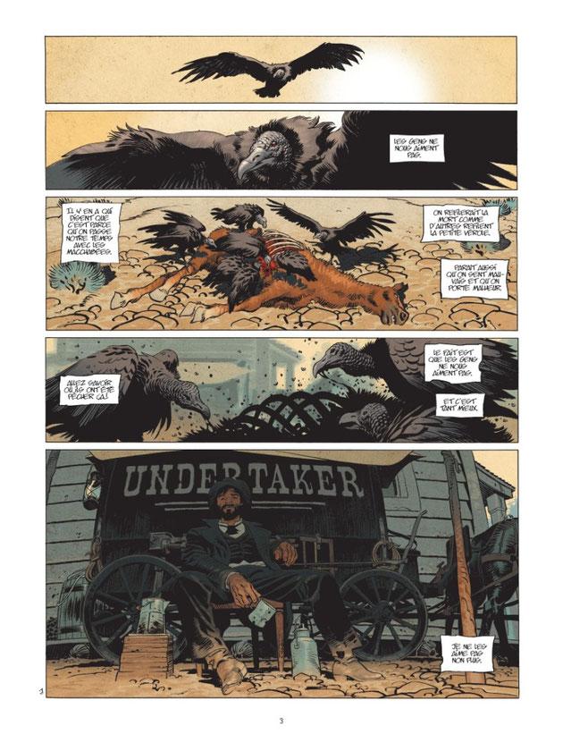 Planche 1 Undertaker tome 1 Dorison-Mayer