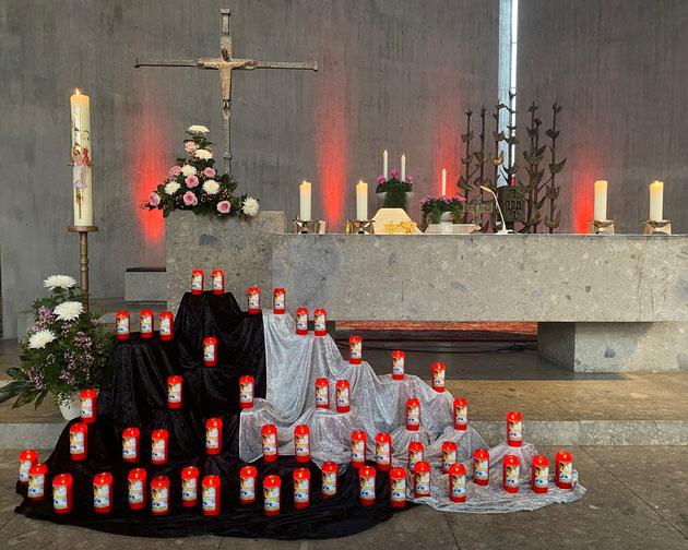 Totengedenken an Allerheiligen in der Stadtpfarrkirche