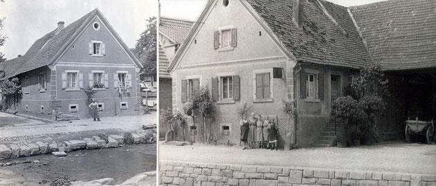 Mit Klick vergrößern, Adlerstraße 26, links der Sohn Theodor Hitscherich