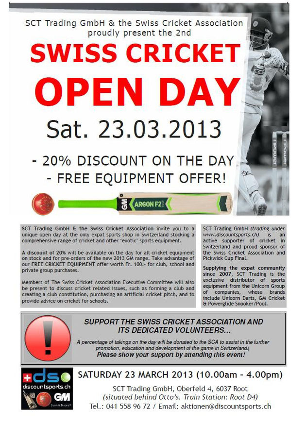 Cricket Equipment Open Day
