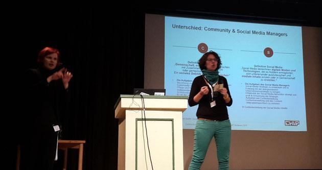 DeafIT KOnferenz 2016 Hamburg Nicole Weißkopf mit Community Management