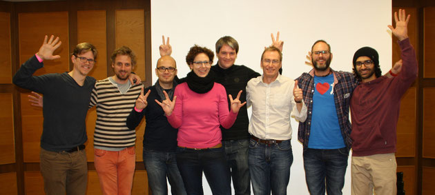 DeafIT-Organisationsteam 2015 in Nürnberg