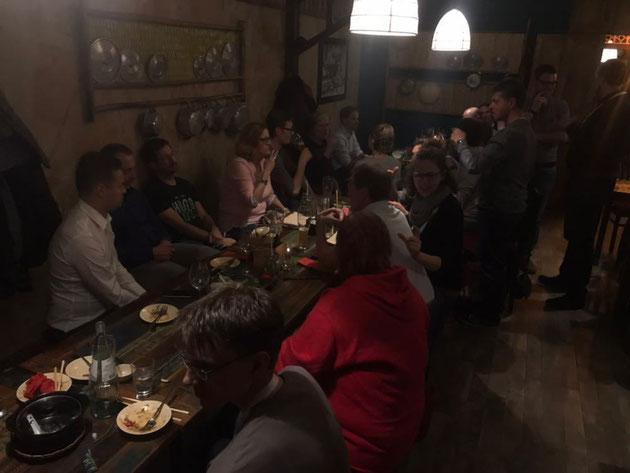 DeafIT gettogether bei einem Abendessen
