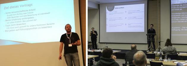 DeafIT - Links: Florian Erfurth mit Erfahrungen bei den Bewerbungen * Rechts: Vincent Rothländer mit Microsoft AI