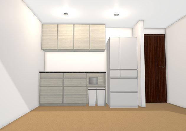 キッチン収納 カップボード 壁面収納 オーダー家具