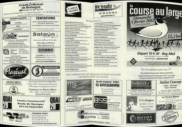 Plaquette publiciatire course au Large 2012