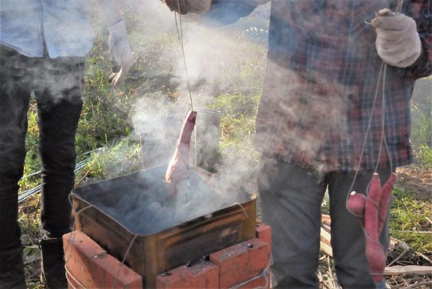 サツマイモ壺焼き