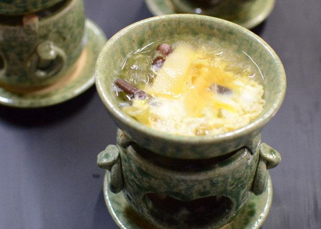 フキと筍、ワラビの卵締め