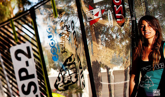 maria andres campeona españa de slalom femenino windsurf spanish woman women champion windsurfing
