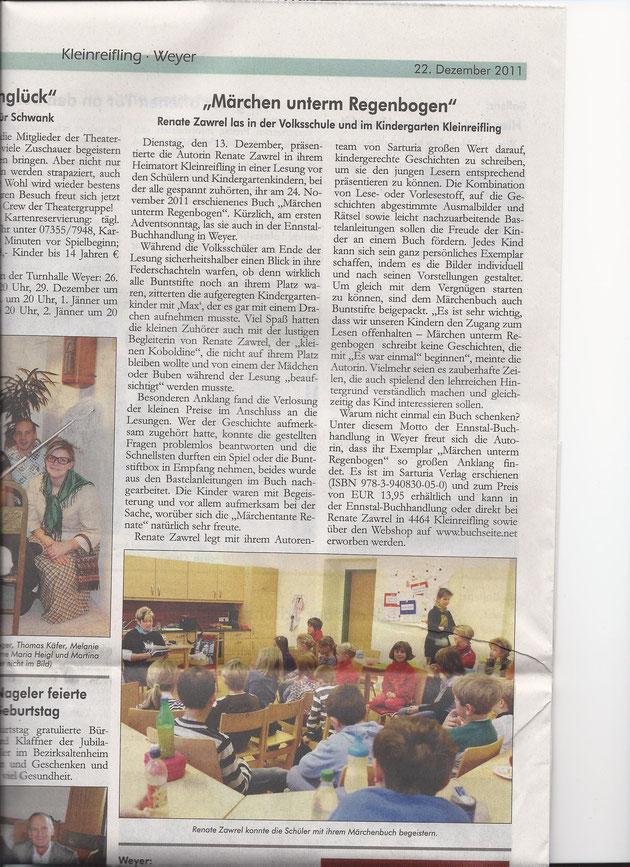 Artikel im Ybbstaler vom 22.12.2011