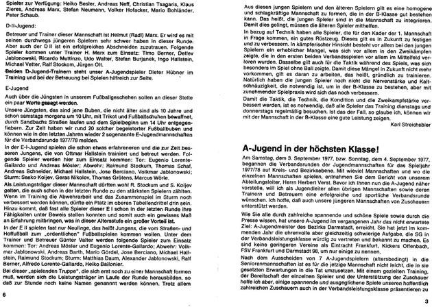 SG SANDBACH  Zeitung SPIELJAHR 1977-78 -04