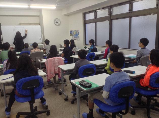 親子特別授業後の生徒限定フォロー授業風景 各3時間×3日間=9時間 At明利学舎 西葛西教室
