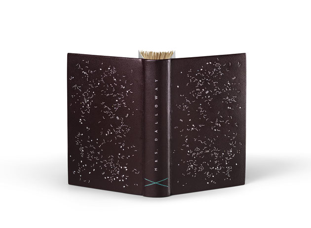 Mrs Dalloway by Virginia Woolf. Unique fine art bookbinding in leather.