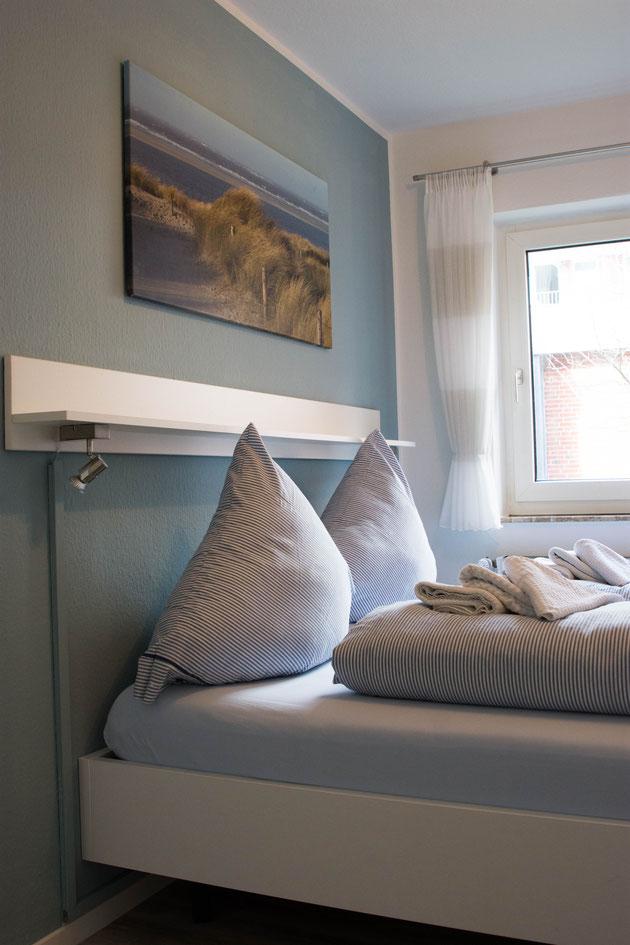 Schlafzimmer sind voll abdunkelbar und sehr ruhig, hochwertige Matratzen