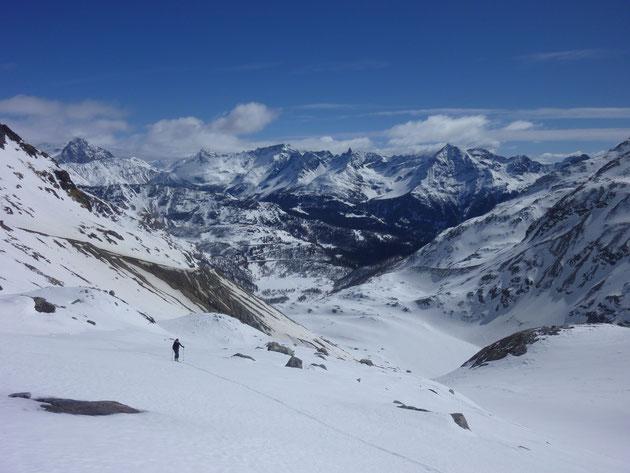 Skitour, Skihochtour, Piz Varuna, Engadin, Bernina, Schweiz, Corn da Camp