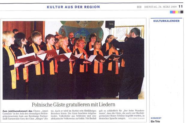 Mitteldeutsche Zeitung 24. April 2008
