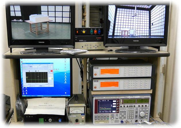 ワイヤレスマイクの送信出力及びスプリアスの計測機器