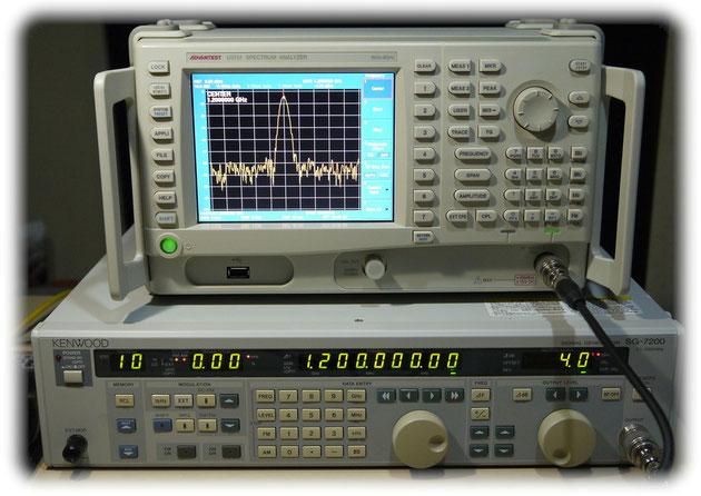 調整治具用計測機器(スペクトラム アナライザー&スタンダード シグナル ジェネレーター)