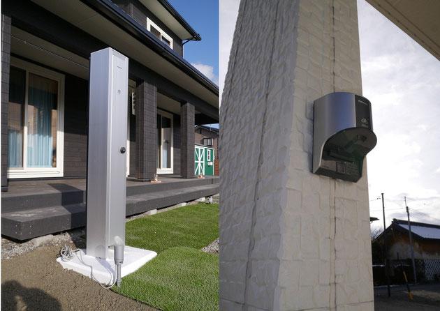 左画像:200V充電設備                   右画像:簡易型充電コンセント