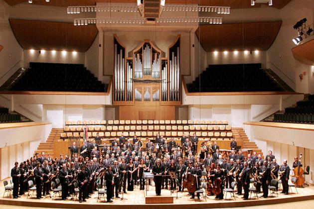 Banda de música Filarmónica Beethoven en el Auditorio Nacional.