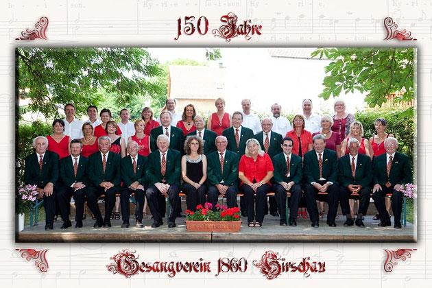 Alle aktiven Mitglieder des Gesangverein Hirschau