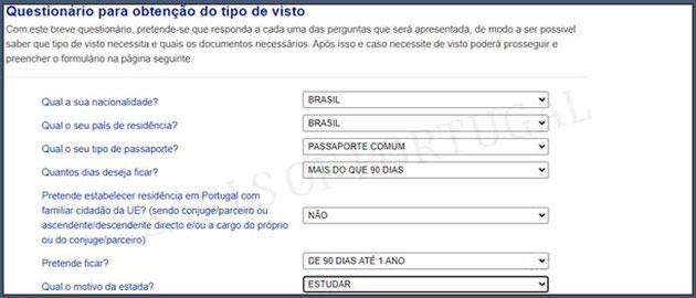 Applicar visto Portugal