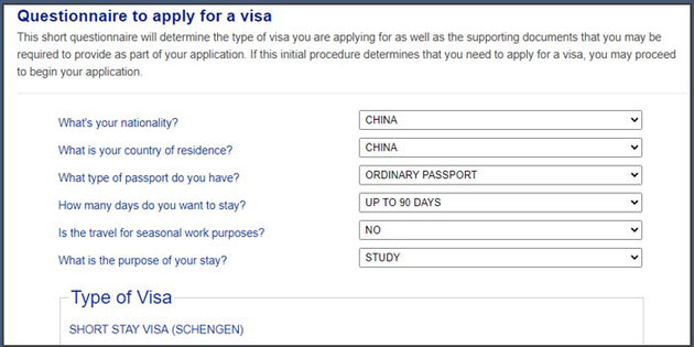Application Visa Portugal