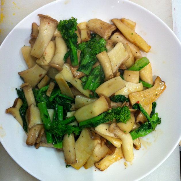 エリンギ 菜の花 レシピ