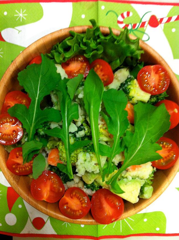ブロッコリーとアボカドのポテトサラダ