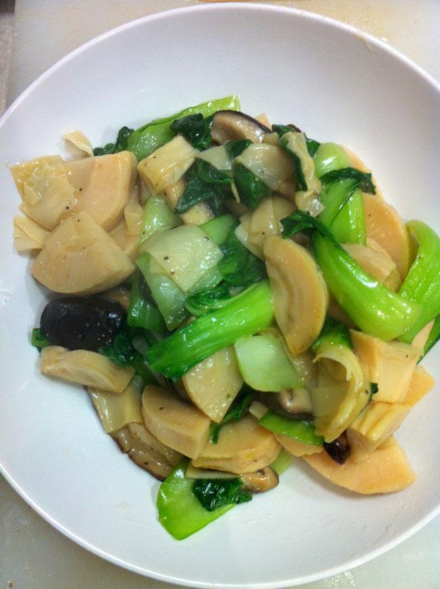 青梗菜 タケノコ レシピ